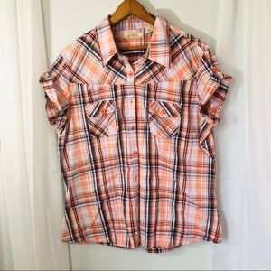 Natural Reflections 2XL button down blouse